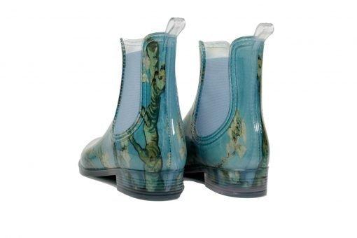 blauwe regenlaars