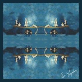 Donkerblauwe zijden sjaal Jheronimus Bosch.