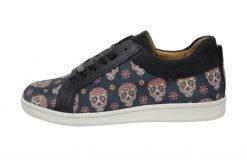 Dias des los muertos sugar skull sneaker