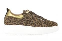 platform sneaker met leopard print