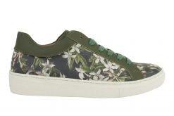 Linkkens groene sneaker met print Azalea.