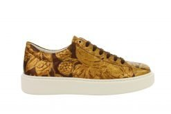 sneaker gold leather van soest
