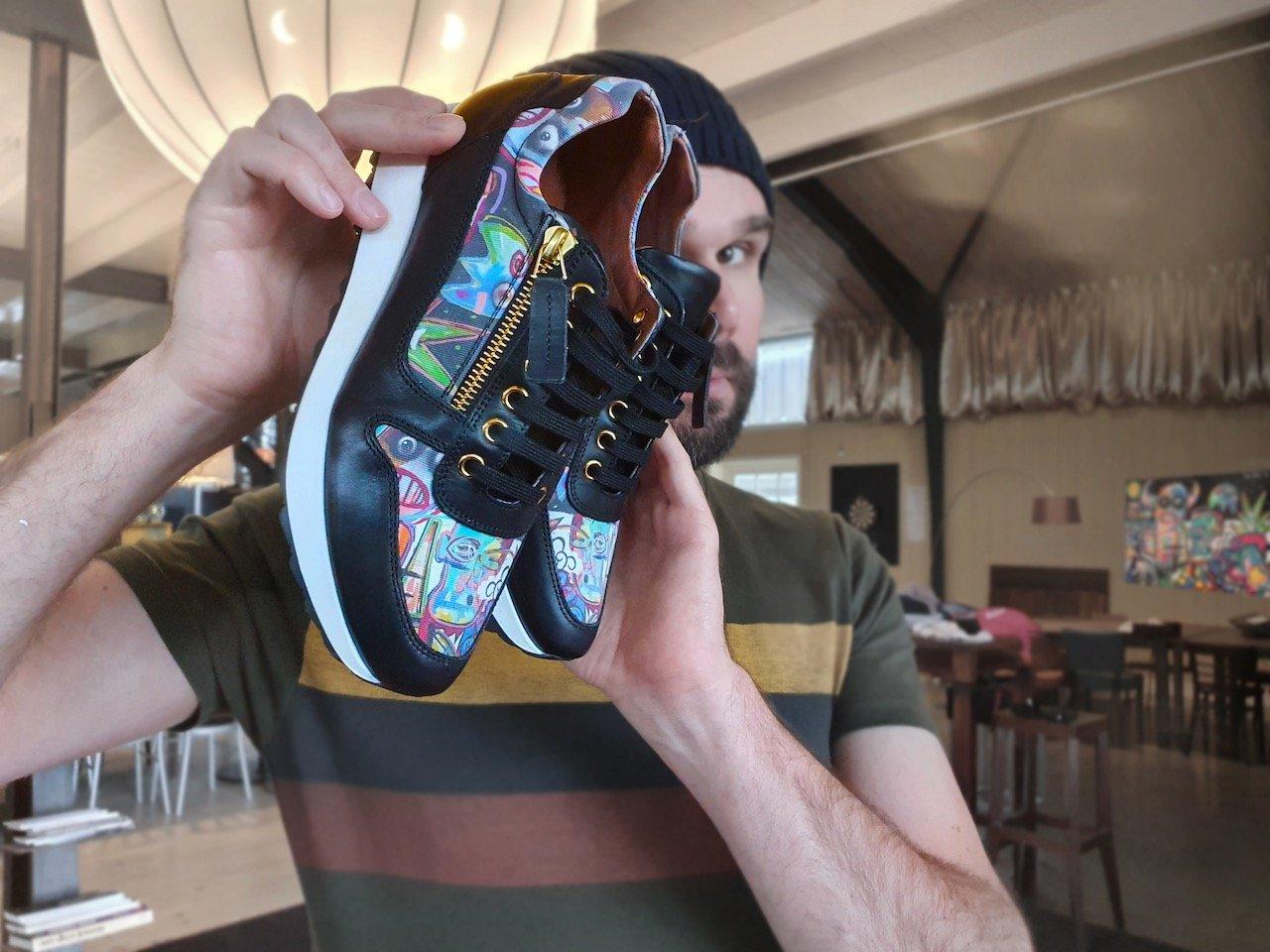 Kara sneaker Devils Marbles linkkens x Ramon Bruin from LINKKENS